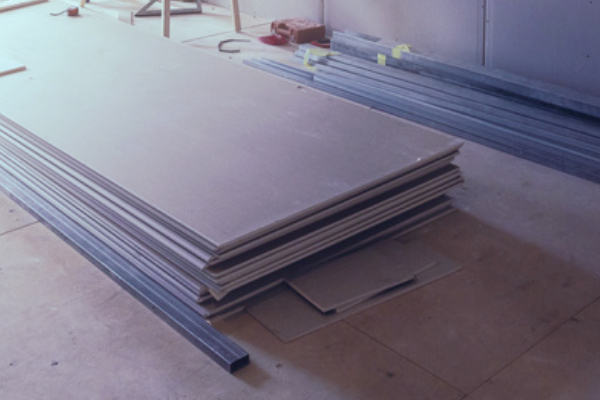 Rigipsplatten Trockenbau Innenausbau Foto